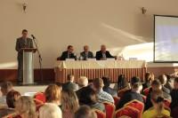 Выступление почетных гостей на съезде Тамбовской областной Торгово-промышленной палаты РФ